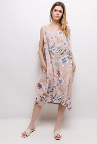HAPPY LOOK robe fleurie en lin
