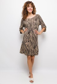 HAPPY LOOK long dress with 3/4 sleeves