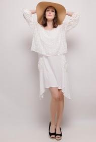 HAPPY LOOK jurk van bi-materiaal