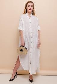 HAPPY LOOK robe boutonnée en lin