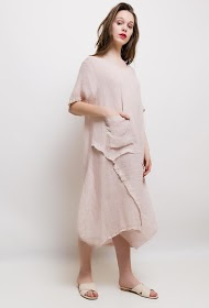 HAPPY LOOK long dress in cotton / linen