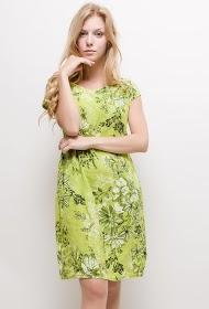 HAPPY LOOK printed linen dress