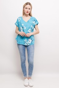 HAPPY LOOK blouse in lin