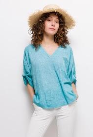 HAPPY LOOK bluse in lin