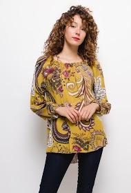 HAPPY LOOK printed fluid blouse