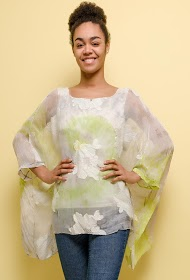 HAPPY LOOK loose printed blouse