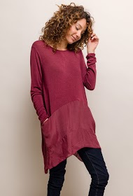 HAPPY LOOK bi-material dress with pockets