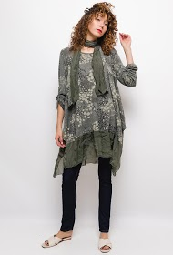 HAPPY LOOK printed tunic with scarf