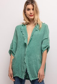 HAPPY LOOK linen and cotton cardigan