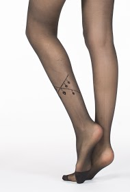H&NATHALIE transparent tights with pattern