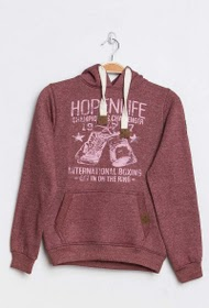 HOPENLIFE hooded print sweatshirt