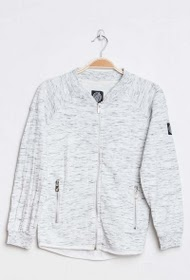 HOPENLIFE heathered zip sweatshirt
