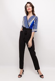 IM SHOP striped jumpsuit