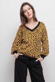 IM SHOP leopard print sweater