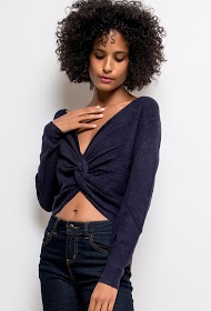 IM SHOP knotted reversible sweater