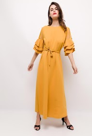 IM SHOP long stretch dress with decorative buttons