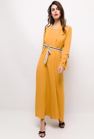 IM SHOP long stretch dress with belt