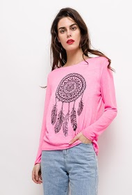 IM SHOP top with printed dream catcher