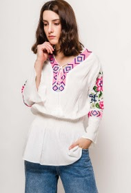IM SHOP beach tunic with embroidery