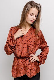 IN VOGUE wrap blouse