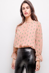 IN VOGUE printed blouse