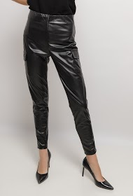 IN VOGUE cargo leather cargo pants