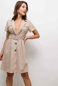 IN VOGUE buttoned dress