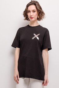 IN VOGUE t-shirt with cross