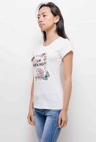 IN VOGUE t-shirt with flowers