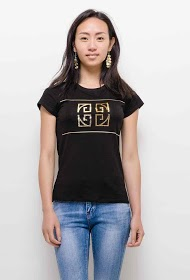 IN VOGUE t-shirt with sequins