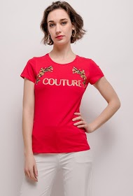 IN VOGUE couture bedrukt t-shirt