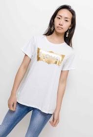 IN VOGUE t-shirt love avec strass