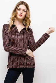IN VOGUE polo t-shirt with graphic pattern