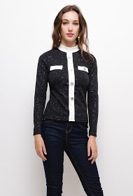 IN VOGUE bicolor top with buttons
