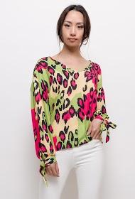 INFINITIF PARIS leopard blouse