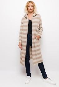 INFINITIF PARIS long striped vest