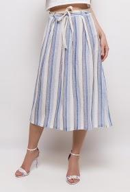 INFINITIF PARIS striped midi skirt