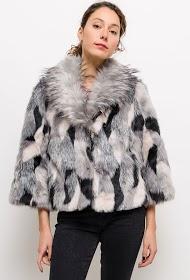 INFINITIF PARIS colorful fur coat