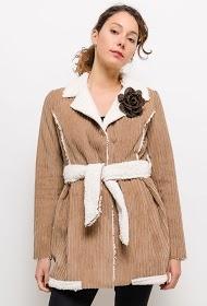 INFINITIF PARIS manteau en velours côtelé