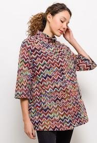 INFINITIF PARIS manteau à motifs zig zag