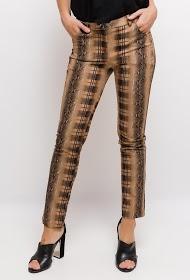 INFINITIF PARIS pantalon à print python et carreaux