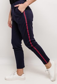 INFINITIF PARIS stretch pants with side bands