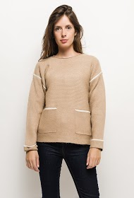 GG LUXE lys strikket sweater