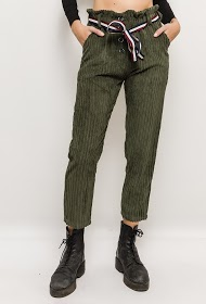 GG LUXE ribbed velvet trousers