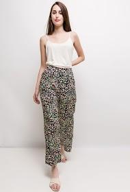 INFINITIF PARIS wide leopard print trousers