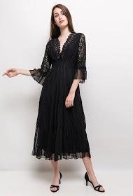 INFINITIF PARIS lace midi dress
