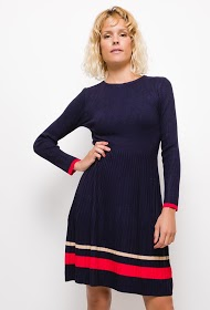 INFINITIF PARIS ribbed knit dress