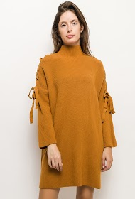 GG LUXE sweater dress with laces