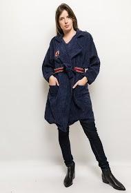 INFINITIF PARIS cappotto in velluto a coste