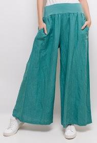 JASMINAH PARIS pantalon large en lin